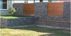 gabions examples | Narrow Gabion Wall Foundation Design Simple Low Cost Stone Walls