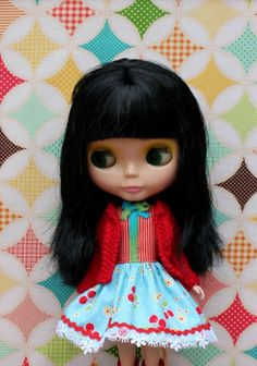 Blythe Doll Dress and matching cardigan. by GirlsWearBlueToo, $45.00