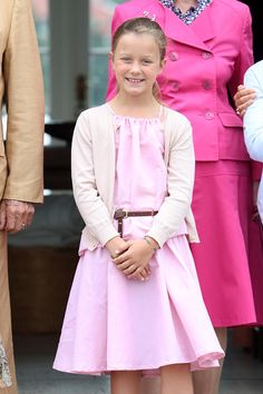 Princess Isabella of Denmark poses for photographers at the annual summer photo call for The Danish Royal Family at Grasten Castle on July 15, 2016 in Grasten, Denmark.