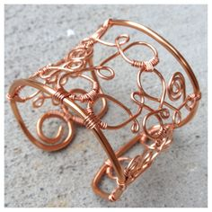 """""""Cantina Cuff"""" By Susan Thomas for Lucky Staar Jewelry using Bare Copper Artistic Wire in 10 and 16 gauge. Jute, Artistic Wire, Diy Jewelry Making, Metal Stamping, Wire Wrapping, Cuff Bracelets, Copper, Create, Copper Earrings"""