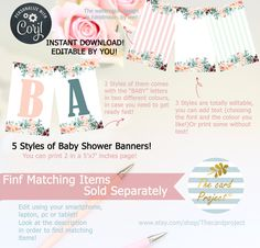 Digital Invitations, Shower Invitations, Happy Birthday Template, Baby Letters, Virtual Baby Shower, Shower Banners, Diaper Raffle Tickets, Baby Shower Diapers, Watercolor Design