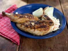 Barbecued Chicken With A Tobasco And Cider Vinegar BBQ Sauce. (by Trisha Yearwood)