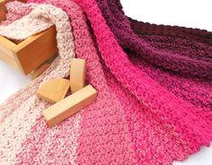 Think Pink Color Inspiration - Painterly Pinks blanket crochet pattern by Janet Brani - LoveKnitting