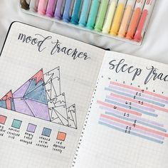 Use a mood tracker to keep track of what makes you happy, identify triggers, and find gratitude - perfect for your bullet journal or planner. Bullet Journal Mood Tracker Ideas, Organization Bullet Journal, Bullet Journal Printables, Bullet Journal Themes, Bullet Journal Inspiration, Notebook Organization, Bullet Journal October, Bullet Journal Key, Bullet Journals