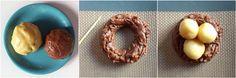 La recette des biscuits nids de Pâques choco-vanille (en images), c'est par ici : http://www.alinebiancacuisine.com/biscuits-nids-de-paques/ !