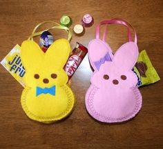 In The Hoop Easter Bunny Treat Bag Designs for by NewfoundApplique, $3.99