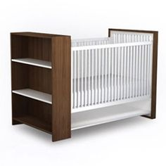 AJ Crib - Shelves  by ducduc   I prefer the closed storage, but this is an option