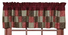 Lancaster Patchwork Block Lined Valance - this valance has the same colorful collection of prints as the quilted comforter.