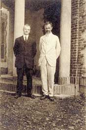 Photograph of Harry H. Laughlin and Charles Davenport at the Eugenics Records Office. Courtesy of Cold Spring Harbor Laboratory Archives.