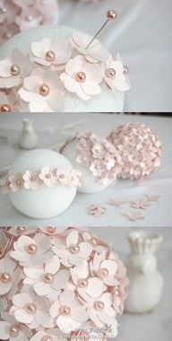 From handmade pomanders to centerpieces, this selection of DIY wedding decorations has it all! Flower Crafts, Diy Flowers, Paper Flowers, Flower Petals, Spring Flowers, Paper Party Decorations, Diy Wedding Decorations, Easy Decorations, Decoration Crafts