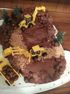 Construction site cake. The boys loved it.