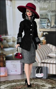 Anicetta OOAK fashion for Silkstone Barbie, Fashion Royalty