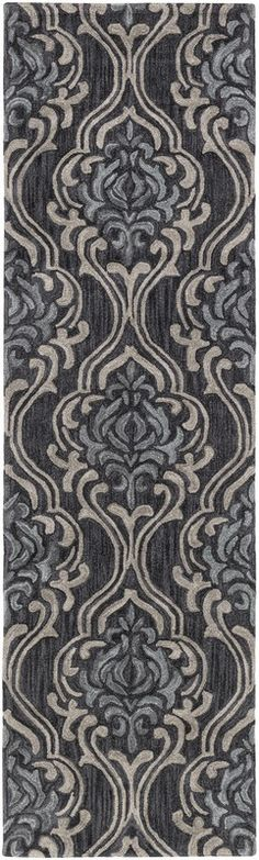 "Surya Samual Hand Hooked Gray Rug SAU-1104 - 2'6"" x 8' - Surya Samual Hand Hooked Gray Rug SAU-1104 - 2'6"" x 8'A modern take on classic elegance, the Samual collection by Surya is the embodiment of chic refinement. Hand hooked in China with 100% polyester, these timeless pieces feature a medium pile, beautiful design, and the perfect motif for any home.SKU: SAU1104-268Manufacturer: SuryaCollection: SamualDesigner: SuryaSize: 2'6"" x 8'Category: RugsCountry of Origin: ChinaContruction: Hand H"
