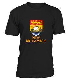 T shirt  New Brunswick  Canada   Coat Of Arms  fashion trend 2018 #tshirt, #tshirtfashion, #fashion