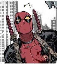 Deadpool by Dan Mora Marvel Comic Character, Comic Book Characters, Marvel Characters, Comic Books Art, Marvel Dc Comics, Marvel Heroes, Marvel Avengers, Deadpool Art, Lady Deadpool
