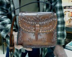 Women's / Leather  Purse / Cobbled / Custom / Hand Made / Leather / Purse / Hand Tooled / Cobbled / Woman / Leather Purse, Bag / Small