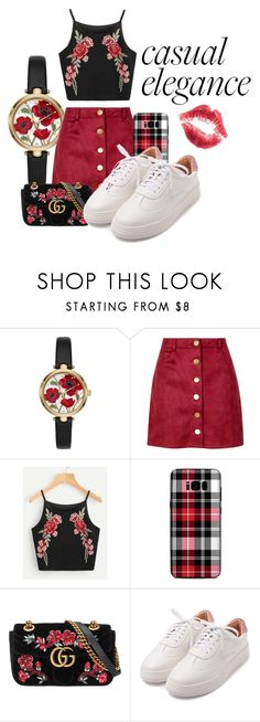 """""""Casual Elegance"""" by juice2003 ❤ liked on Polyvore featuring Kate Spade, Boohoo, Samsung and Gucci"""
