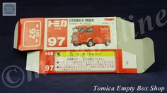 TOMICA 097C CITROEN H TRUCK RED | 1/71 | ORIGINAL BOX ONLY | ST5 1995 JAPAN Diecast, Trucks, Japan, The Originals, Red, Tomy, Truck, Japanese Dishes