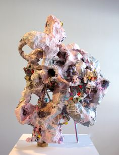 """Ben Pranger New Disasters and Intuitions, 2015 papier-mâché, wood and acrylic 29"""" x 22"""" x 18"""""""