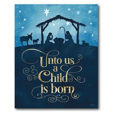 """""""Decorate for the holidays with this beautiful wall art from Courtside Market. Decorate for the holidays with this beautiful wall art from Courtside Market. Nativity design Calligraphy detail Small: 20""""""""H x 16""""""""W x 1.5""""""""D Medium: 24""""""""H x 20""""""""W x 1.5""""""""D Large: 40""""""""H x 30""""""""W x 1.5""""""""D Weight: 2 lbs. Canvas, MDF, metal Attached sawtooth hook Vertical display Wipe clean Size: 20X24. Color: Multicolor. Gender: unisex. Age Group: adult."""" Christmas Canvas, Christmas Nativity, Christmas Door, Christmas Time, Christmas Jesus, Christmas Ornament, Christmas Crafts, Merry Christmas, Christmas Bulletin Boards"""