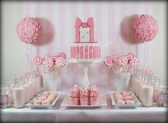 Pink and white party By sweet-delights on CakeCentral.com
