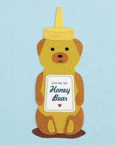 Genial Honey Bear Card