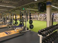 UCLA Bruins Home Gym Garage, At Home Gym, Trx, Gym Design, House Design, Mini Gym, Backyard Gym, Gym Setup, Man Cave Homes