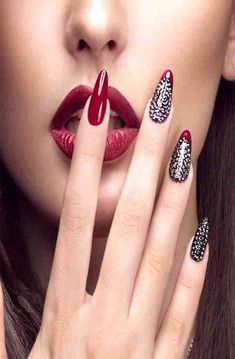 30 Stunning DIY Nail Designs For Beginners Of 2019 Nail Art nail art designs Diy 3d Nails, Easy Nails, Red Nail Art, Cool Nail Art, Beautiful Nail Art, Gorgeous Nails, Beautiful Women, Nail Art Designs, Nails Design