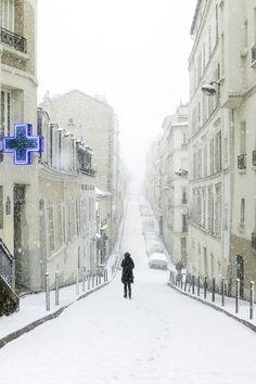 Montmartre, Paris in winter...