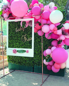 Graduation Decorations Discover Girl Baby Shower Party Decorations Pink White and Gold Theme Decor Set with Banners Balloons Poms Lanterns Tassels and Sash Pieces) Loving this pink tropical installation for a beautiful baby shower in Encino. Babyshower Party, Baby Party, Baby Shower Parties, Girl Babyshower Themes, Baby Showers, Flamingo Baby Shower, Flamingo Birthday, Baby Shower Pink, Baby Shower For Girls