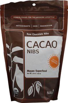 Navitas Naturals Cacao Nibs Raw Chocolate  -power food - antioxidant - iron - magnesium - mayan superfood