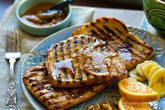 Cinnamon Orange Vanilla Grilled Vegan French Toast