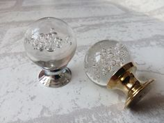 Bubble Glass Knobs Crystal Knob Drawer Knobs Dresser Pulls Handles Kitchen Cabinet Knob Decorative Knobs Pull Handle Hardware Clear Silver by Anglehome on Etsy