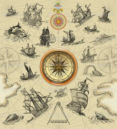 Pirate Treasure #Map Background | Pirate #map - Stock Image