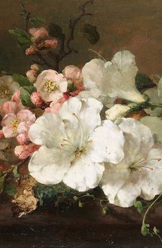 c0ssette:    Margaretha Roosenboom, Still life with blossom (detail)