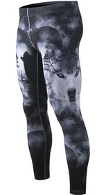 Men gym tights compression full pants