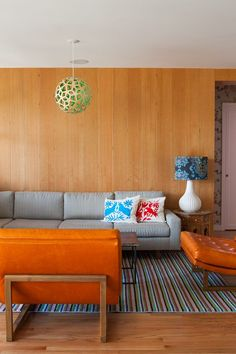 Wooden Accent wall | Colorful home in California