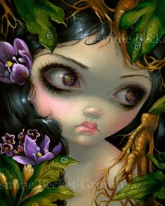 Mandrake Root - Poisonous Beauties XIV by Jasmine Becket-Griffith