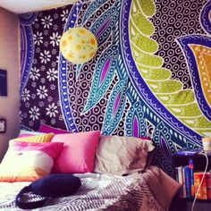 Wall tapestry target wall tapestry target sisters college dorm room tapestry from urban outfitters and bedding My New Room, My Room, Room Tapestry, Tapestries, College Dorm Rooms, College Bedding, Dorm Life, Dorm Decorations, Dream Bedroom