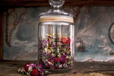 Personalised Apothecary Jar for Strawberry and Rose tea