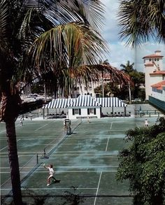 This was actually our view from our first Palm Beach store location on Worth Avenue. The Bath and Tennis Club, Palm Beach.