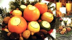 These orange candles can be recycled in to juice for the brunch the next day | Turn Edible Fruit Arrangements In To Treats After Your Wedding | Green Bride Guide