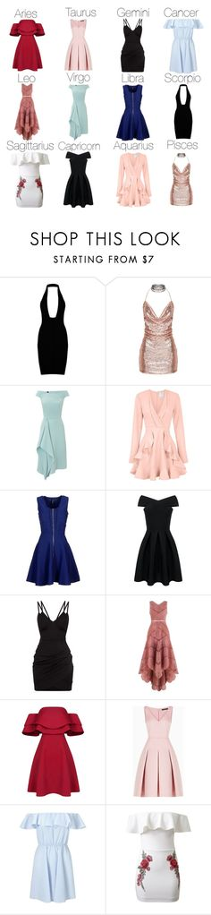 """""""Zodiac Preference #10 (Dresses)"""" by logibear1534 on Polyvore featuring Roland Mouret, C/MEO COLLECTIVE, Marciano, Zimmermann, BCBGMAXAZRIA, Miss Selfridge and WithChic"""