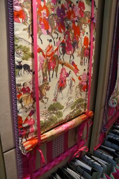 Stunning blinds in Manuel Canovas fabric