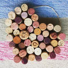 Wine Cork Heart Home Decor Wedding Decor Housewarming by LoveMue