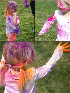 """""""Color-run"""" A fun outdoor colorful activity using 'Holi' kid-safe powdered colors"""