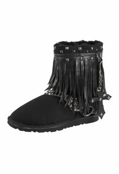 Kettle Black Rocker Fringe Boots