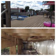 $3000. New Pool, $2800. New Deck, had to remove decking to change out the condenser fan because of severe air restriction.