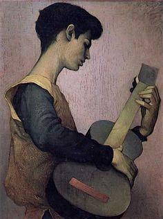 "♪ The Musical Arts ♪ music musician paintings - ClaudioBravo(b. 1936)   "" El Trovador"""