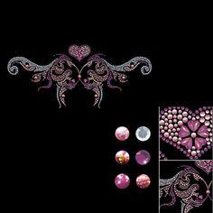 Rhinestone-Iron-on-Transfer-Hot-fix-Motif-crystal-Fashion-Design-Line-deco-2000